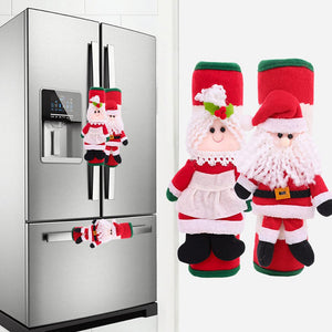 Christmas Refrigerator Door Handle Cover