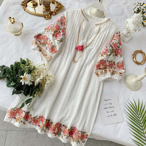 vintage  floral folk holiday loose dresses