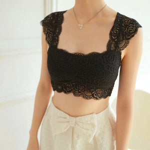 Lace Padded Bra Crop Top