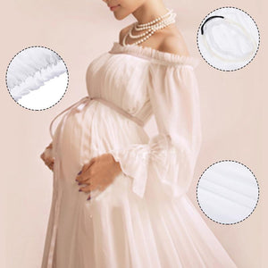 White Maternity Lace Pregnant Photography Props