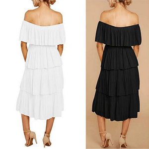 High-waisted CupcakeOff Shoulder Dress