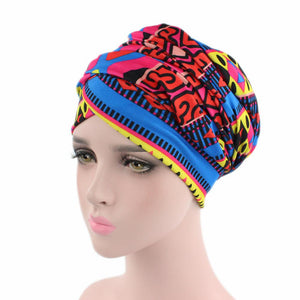 Women African Cotton Scarf Wrapped Head Turban