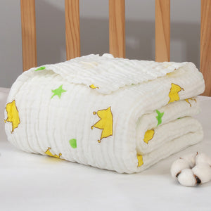 Baby Swaddle Blanket Cotton Fabric 6 Layer