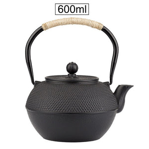 Japanese Iron Tea Pot with Stainless Steel Infuser Cast Iron