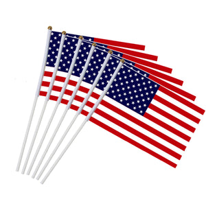 6pcs USA Stick Flag 5x8 inch
