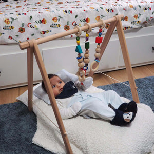 Handmade Natural Wood Play Gym for Babies