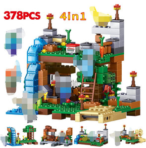 378 Pcs Waterfall 4 IN 1 Building Blocks Toys For Kids