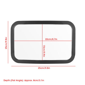 Adjustable Belt Back Seat Car Inner Mirror Square Facing Rear View