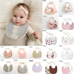 Baby Boys Girls Cute Feeding Cotton Bibs