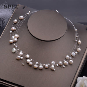 Natural pearl necklace for women