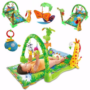 Baby Infant Play Mat Rainforest Musical Gym