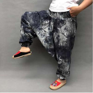 Women Causal Print Hippie Joggers loose Cross-Pants