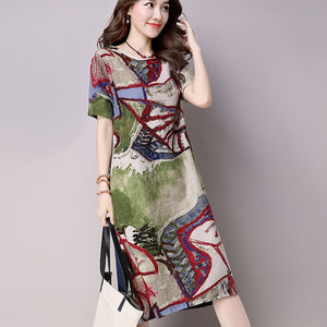 Women  Hippie Plus Size Long dress