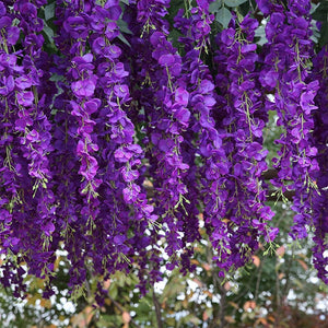 Artificial Wisteria flowers Vines Wedding Decor Flower Garland