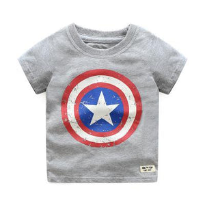 Boys Short Sleeve T Shirts Cotton Captain America