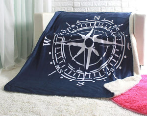 Compass throw super soft box and needle sofa blankets