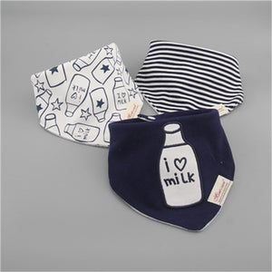 100% cotton baby boys and girls bibs