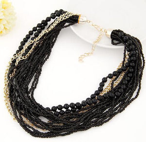 Beads Chain Tassel Necklaces for Women Maxi Simple Style Tribal Jewelry Handmade