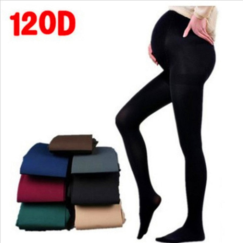 velvet pregnant women pantyhose large size leggings maternity wear