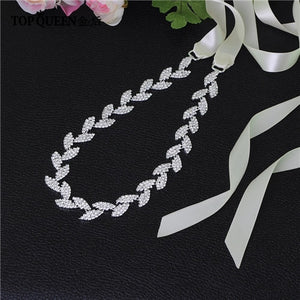 Bridal sash Silver belt dress Accessories