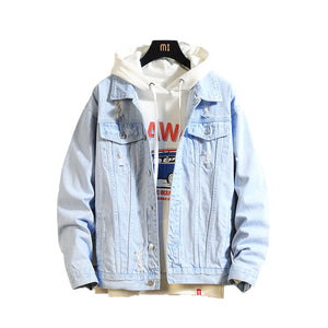 Casual Bomber Jackets Men Vintage Jean Jacket coat Streetwear