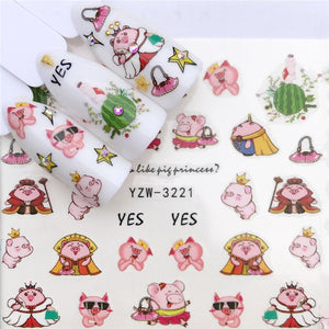 Nail Art Decals DIY Fashion Wraps Tips Manicure Tools