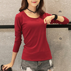 Winter Women t-shirts long sleeve Casual tunic