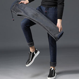Men Jeans Warm Thickening for winter