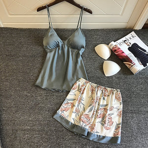 Silk Pajamas for Women 2 piece set