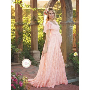 Long Maxi Gown Maternity Dress