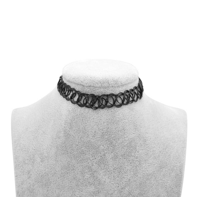 Cute New Stretch Vintage Choker Tattoo Necklaces For Women