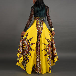 African Traditional Long Dress Party Maxi Skirt for Women