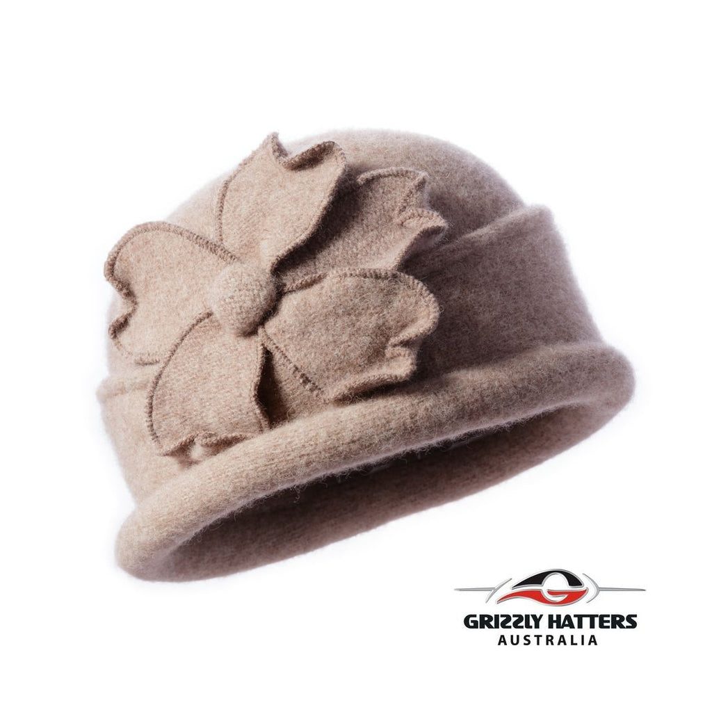 Packable Small Brim Australian Wool Hat Small fit sand colour
