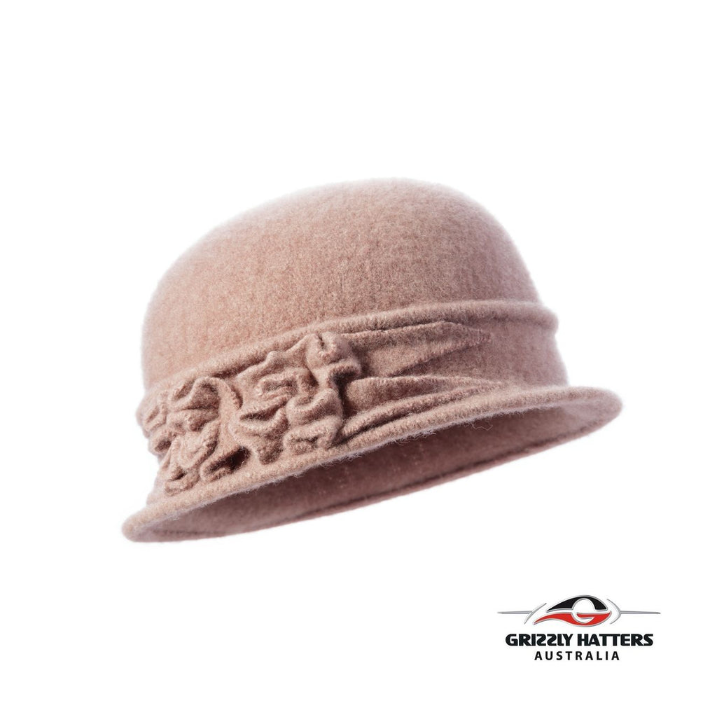 Packable Small Brim Australian Wool Hat tan colour