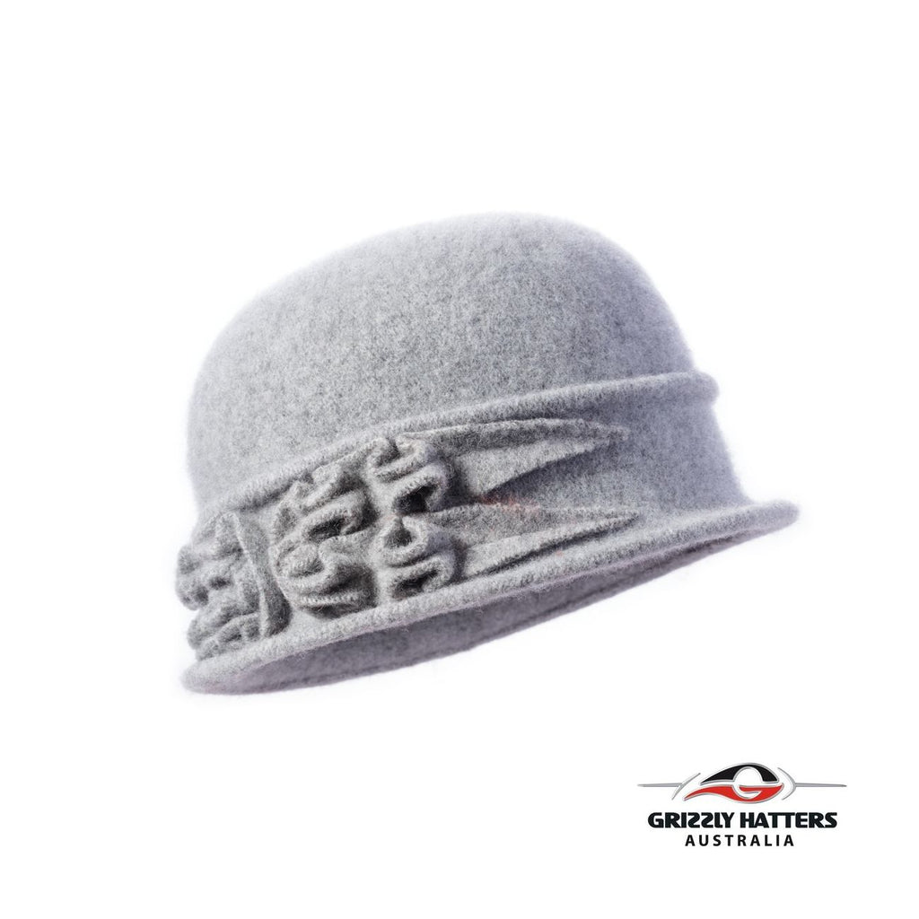Packable Small Brim Australian Wool Hat gray colour