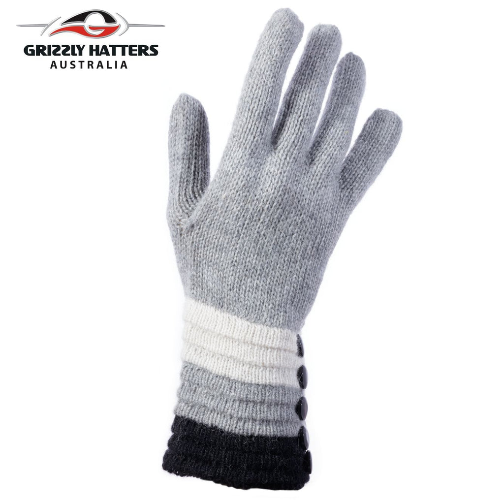 Merino wool gloves grey colour