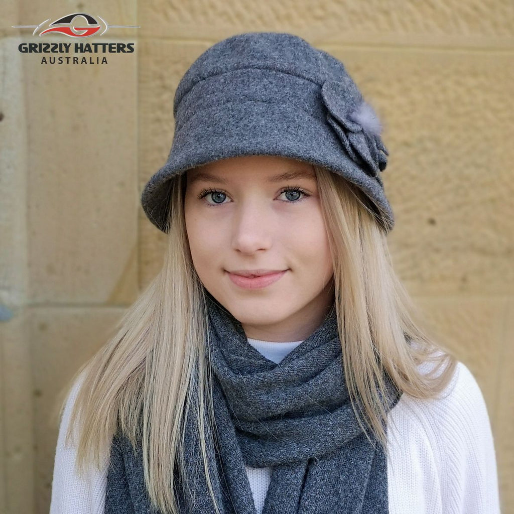 Foldable Fashion Wool Hat 100% Australian Merino wool designed in Tasmania Australia