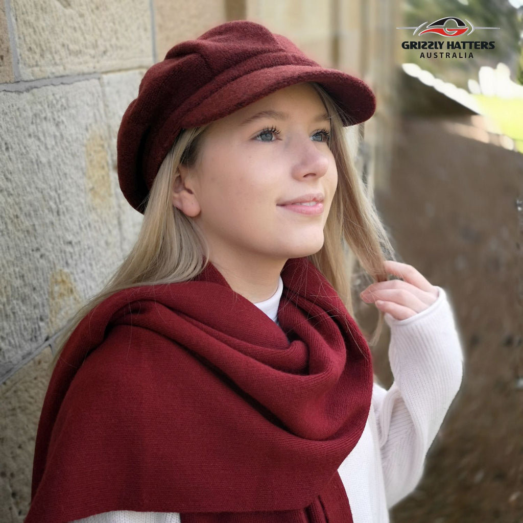 Super soft large size merino wool scarf by Grizzly hatters extra warm and durable different colours
