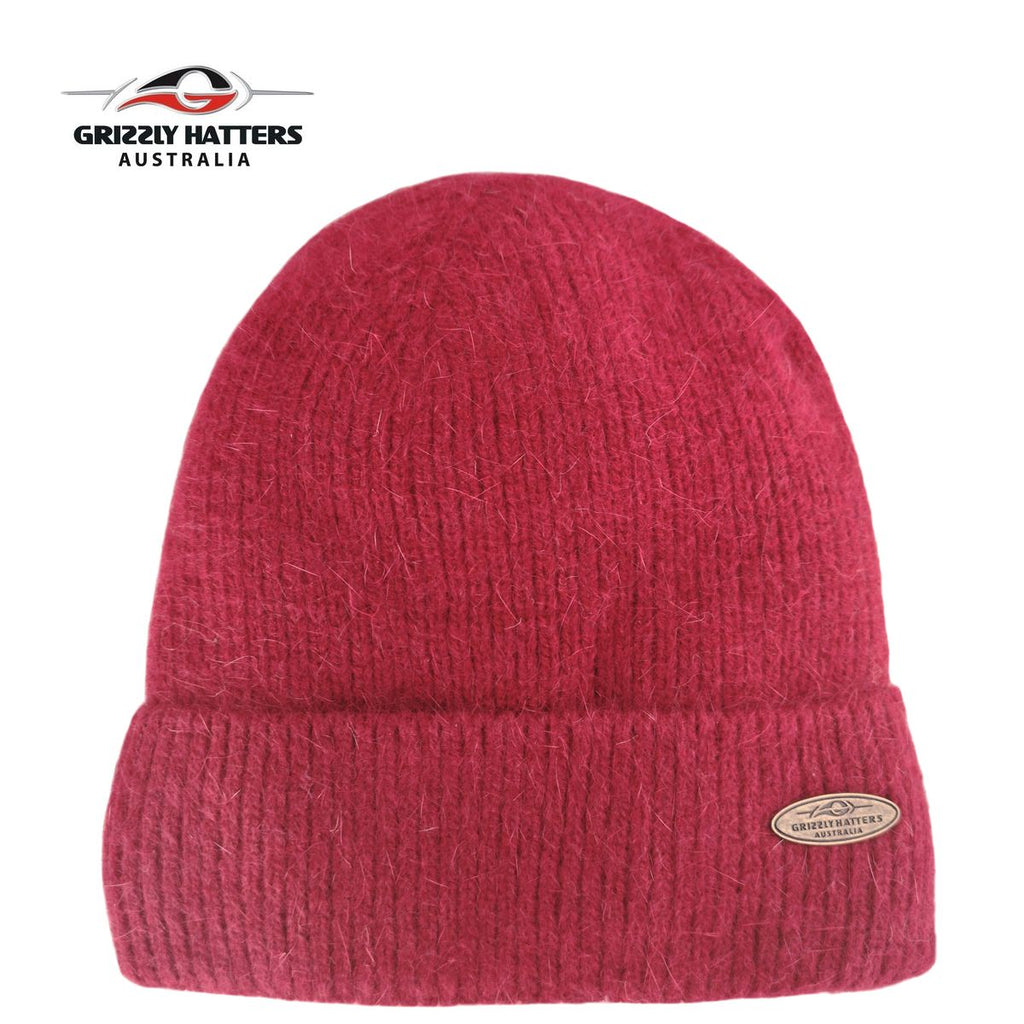Merino & Angora Wool blend Beanie with fleece lining