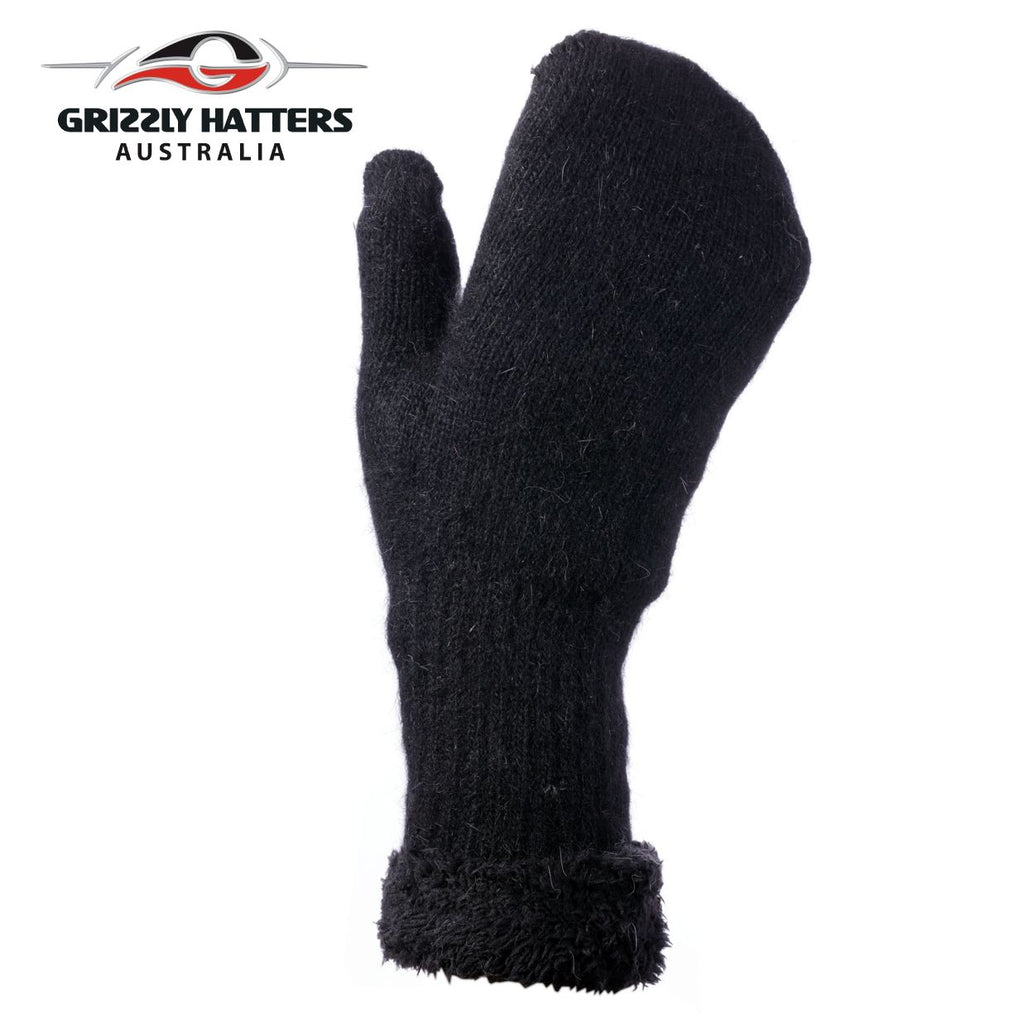 Ladies Wool Mittens with extra lining layer