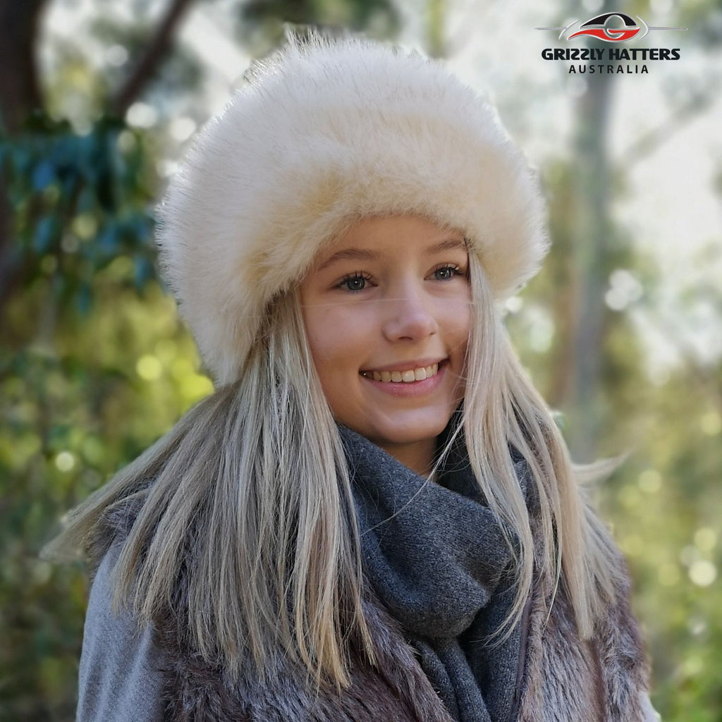 Faux Fur Hat Cream Colour
