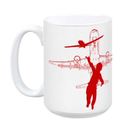 Dream BIG Worry Small - AIR MUG - RED