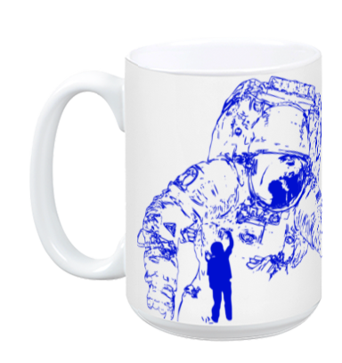 Dream BIG Worry Small - ASTRO MUG - BLUE
