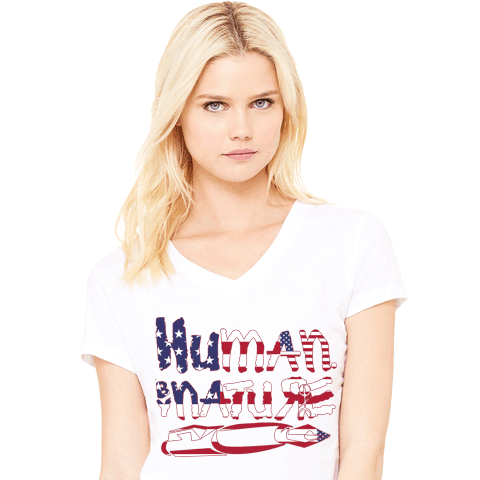 Human By Nature - Proud American Ladies White