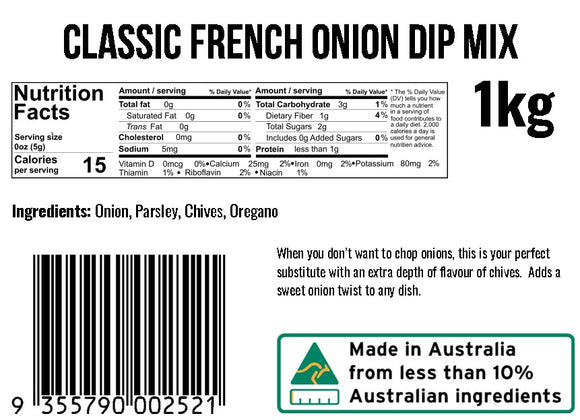 Classic French Onion Dip Mix