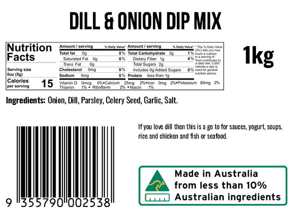Dill and Onion Dip Mix
