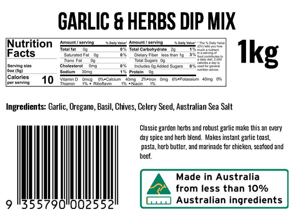 Garlic and Herbs Dip Mix