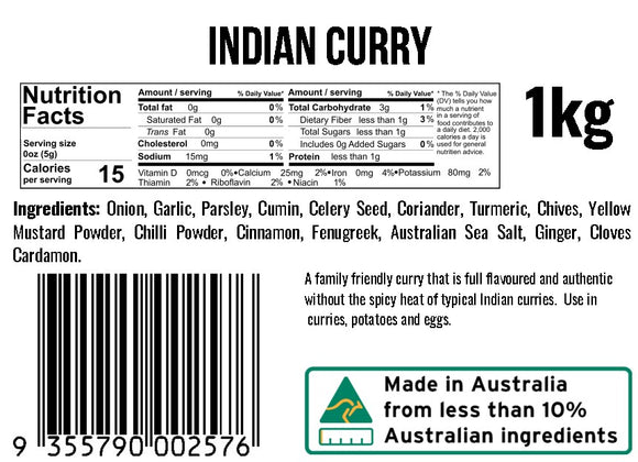 Indian Curry Dip Mix