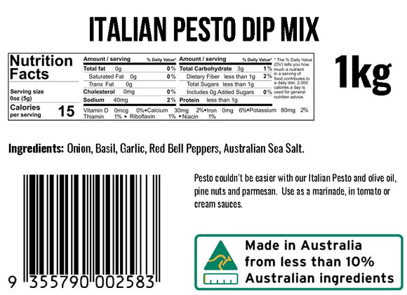 Italiano Pesto Dip Mix
