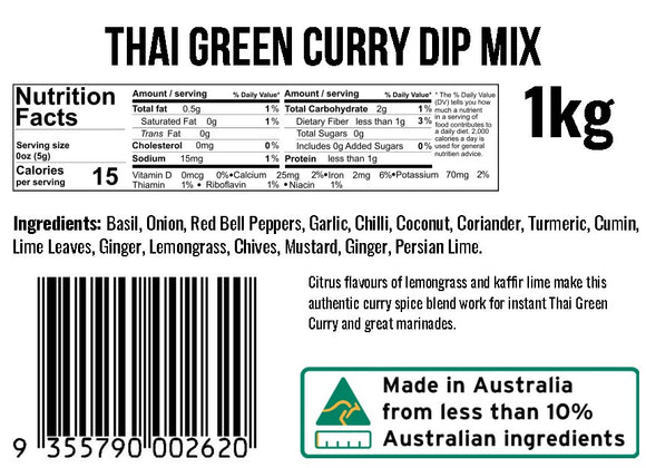 Thai Green Curry Dip Mix